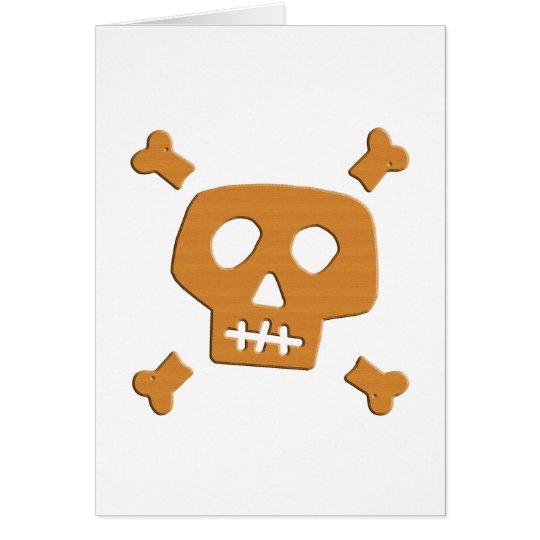 Wooden Skull Card