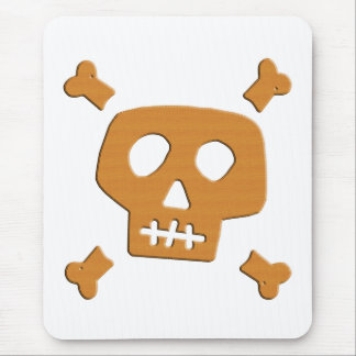 Wooden Skull Mouse Pad