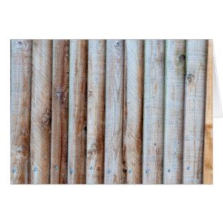Wooden Slatted Fence Card