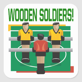 Wooden Soldiers Square Sticker