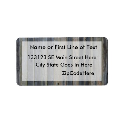 Wooden solid slat fence , perfect background custom address label