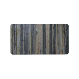Wooden solid slat fence , perfect background personalized address labels
