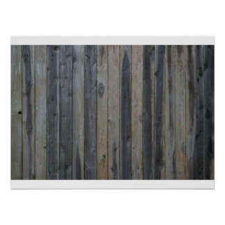 Wooden solid slat fence , perfect background poster