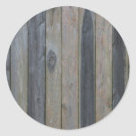 Wooden solid slat fence , perfect background round sticker