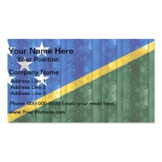 Wooden Solomon Islander Flag Business Card