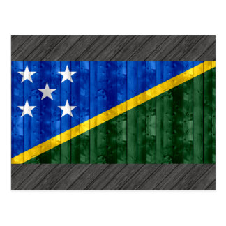 Wooden Solomon Islander Flag Postcard