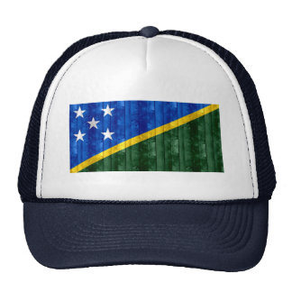 Wooden Solomon Islander Flag Trucker Hat