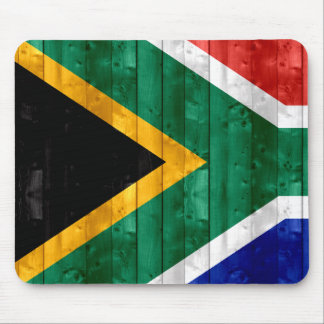Wooden South African Flag Mousepads