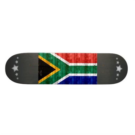 Wooden South African Flag Skate Deck
