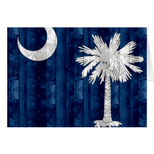 Wooden South Carolinian Flag Cards