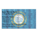 Wooden South Dakotan Flag Double-Sided Standard Business Cards (Pack Of 100)