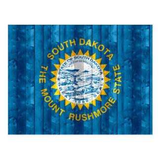 Wooden South Dakotan Flag Postcard