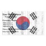 Wooden South Korean Flag Business Card