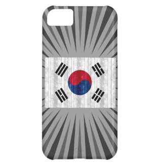 Wooden South Korean Flag Case For iPhone 5C