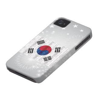 Wooden South Korean Flag Blackberry Bold Cover