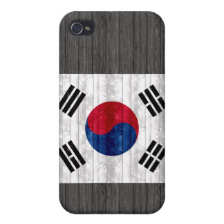 Wooden South Korean Flag iPhone 4 Cover