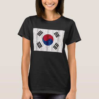 Wooden South Korean Flag T-Shirt