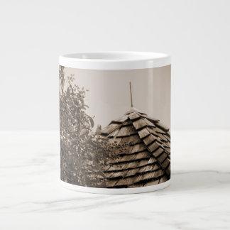 Wooden split shingle cupola sky tree sepia giant coffee mug