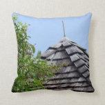 Wooden split shingle cupola sky tree sepia throw pillows
