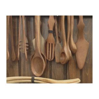 Wooden Spoon Display Wood Wall Art