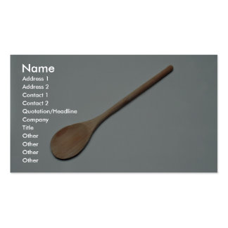 Wooden spoon for kitchen work Double-Sided standard business cards (Pack of 100)