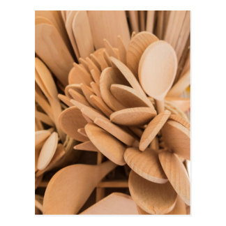 wooden spoons and ladles postcard