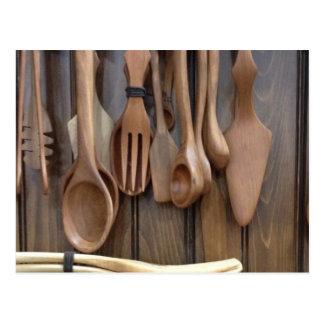 Wooden Spoons Postcard