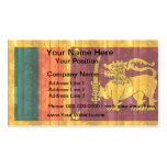 Wooden Sri Lankan Flag Double-Sided Standard Business Cards (Pack Of 100)