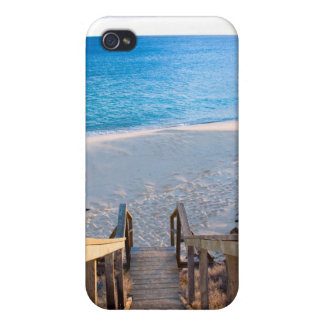 Wooden stairs leading to beach case for iPhone 4