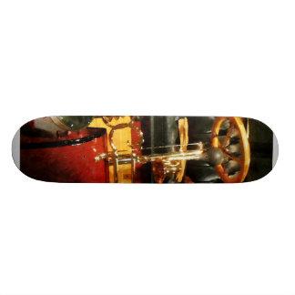 Wooden Steering Wheel on Old-Fashioned Car Custom Skateboard