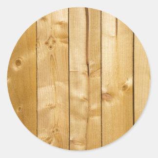 Wooden Round Sticker