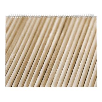Wooden Sticks (sephia tone) Calendar