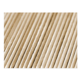 Wooden Sticks (sephia tone) Postcard