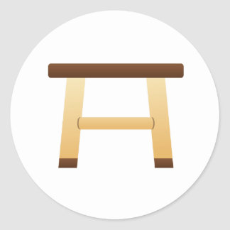Wooden Stool Classic Round Sticker
