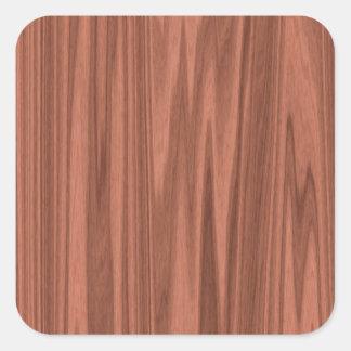 wooden structure square sticker