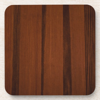 Wooden style beverage coasters