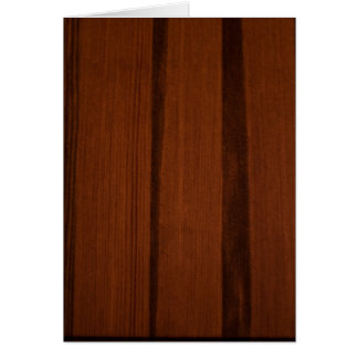 Wooden style greeting card