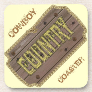 Wooden Style Country and Western Drink Coasters