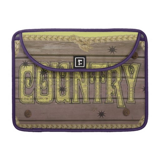 Wooden Style Country and Western MacBook Pro Sleeves