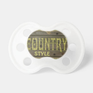 Wooden Style Country and Western Pacifier