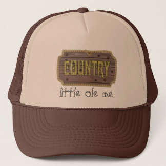 Wooden Style Country and Western Trucker Hat