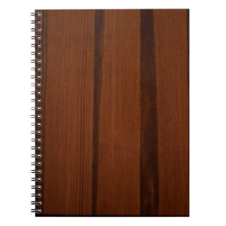 Wooden style spiral note book