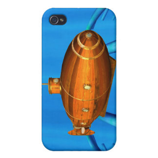 wooden submarine iPhone 4 cover