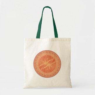 Wooden Sun Abstract Logo Design Tote Bag