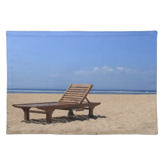 Wooden sunbed cloth placemat