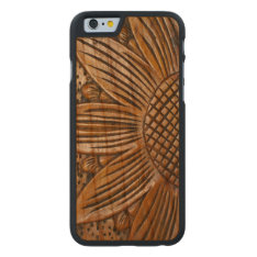 Wooden Sunflower Print Carved® Wood Iphone 6 6s Carved Cherry Iphone 6 Case at Zazzle