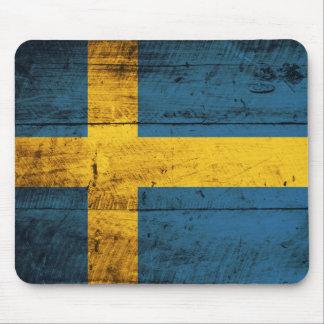 Wooden Sweden Flag Mouse Pad