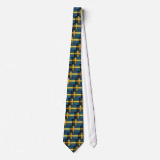 Wooden Sweden Flag Neck Tie