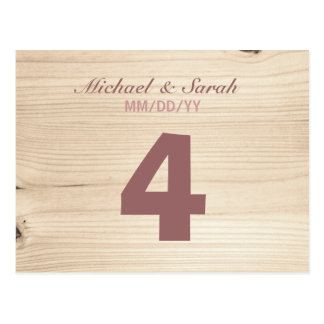Wooden Table Number Postcard