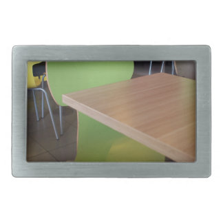 Wooden tables and chairs with furiture in restaura rectangular belt buckle